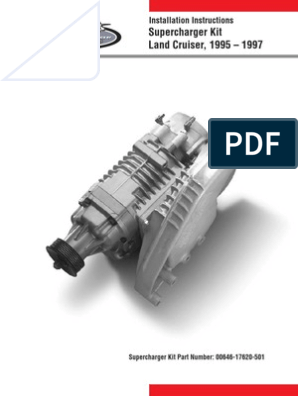 Supercharger Kit Land Cruiser | Throttle | Belt (Mechanical)