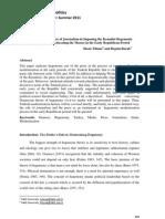 Yilmaz, I & B. Burak - TJP 2011 - Instrumentalist Use of Journalism in Imposing the Kemalist Hegemonic Worldview