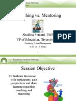 Coaching vs Mentoring Sheilina Somani