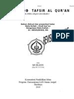Studi Al Quran Met Ode Tafsir Ijmalitahlili Maudzui Muqarin