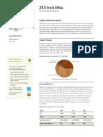 iMac 21.5 Inch Environmental Report 20110503