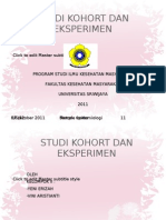 Studi Kohort Dan Eksperimen