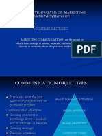 Comparitive Analysis of Marketing Communications Of