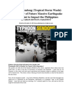 Typhoon Sendong (Washi) A Harbinger of Future Massive Earthquake & Tsunami to Impact the Philippines