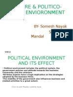 Nature & Politico-legal Envioronment