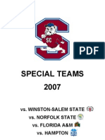 South Carolina State Special Teams