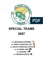 Norfolk State Special Teams