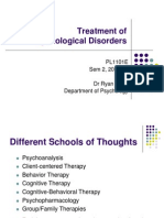 Lecture 11 - Abnormal Psychology II--Treatment