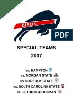 Howard Special Teams