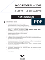 Fgv 2008 Senado Federal Contador Prova