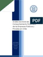 Analisis Sectorial Del Comport a Mien To Financiero de Las Empresas Publicas y Privadas en Chile (2010)