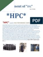 high performance computing......