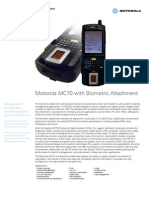 MC70 Biometric Attachment Specsheet