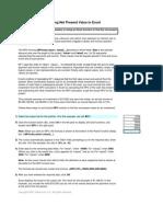 Tutorial Excel NPV