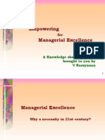 Managerial Excellence