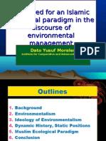 Advocating Environmental Governance Islam
