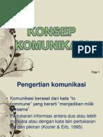 KONSEP KOMUNIKASI