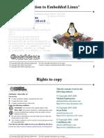 Embedded Linux Course Slides
