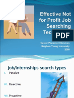 Job Search Not for Profit