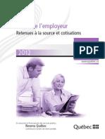 Guide retenues à la source et cotisations TP-1015.G(2012-01)