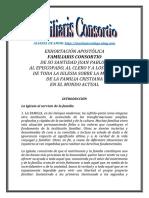 EXHORTACIÓN APOSTÓLICA FAMILIARIS CONSORTIO | ALIANZA DE AMOR