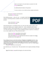 Basic Principles of Subject Verb Agreement