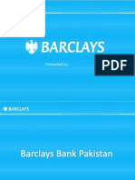 Presentation on Barclays Bank
