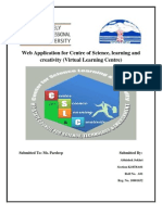 Web Application for Centre of Science, learning and creativity (Virtual Learning Centre)