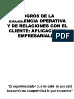 Logros de La ExcelenCIA Operativa y de Relaciones Con El Cliente Aplicaciones EmPreSariAles