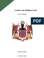 Der Ritterorden vom Heiligen Grab - Ein Almanach