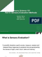 IFTSensorySciencePartII