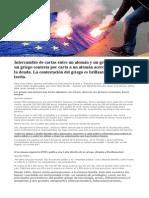 EXIGIMOS QUE NOS DEVUELVAN LA CIVILIZACIÓN QUE NOS ROBARON!!! Intercambio de Cartas Abiertas Grecia - Alemania