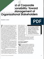 Caroll Pyramid of Social Responsibility