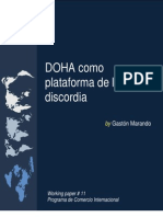 Doha como plataforma de la Discordia