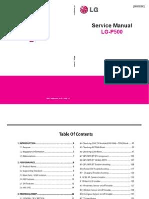 LG P500 - Service Manual   Amplifier   Electronic Circuits