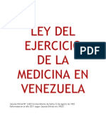 Ley Del Ejercicio de La Medicina 2011