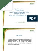 Acceso Información Predial Municipalidades