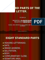 Standard Parts of the Letter
