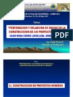 Perforacion y Voladura de Rocas en La Construccion de Un Proyecto Minero - Caso Mina Cerro Lindo