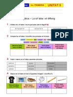 Exercicis Unitat 5 - Gramàtica - La síl·laba i el diftong