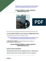 Apostila Senado Federal Analista Legislativo  Especialidade Administração 2012