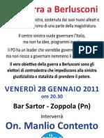 La Guerra a Berlusconi Manlio Contento Gennaio 2011