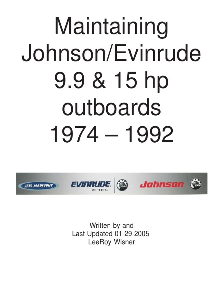 maintaining johnson 1974 1992 carburetor engines rh scribd com 2000 Johnson Outboard 1992 Johnson 60 HP Outboard