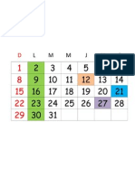 Cronograma Enero 2012