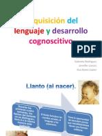 Adquisición del lenguaje y desarrollo cognoscitivo (0- 3 años)
