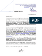 Carta Para Enviar Por Fax a Los Centros de Salud