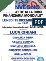 Resistere Alla Crisi Luca Ciriani Dicembre 2008