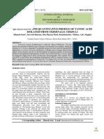 Quantificação de ácido tânico