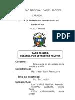 Caso Clinico Cesarea x Estrechez Pelvica