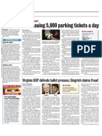 D.C. Issuing 5,000 Parking Tickets A Day